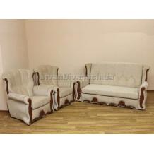 Комплект диван Роксана и два нераскладных кресла