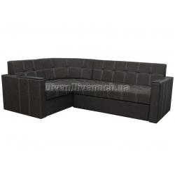 """Угловой диван Версаль 2 тёмно серый """"7"""" + в подарок Сертификат на 350грн"""