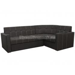 """Угловой диван Версаль 2 тёмно серый """"Г"""" + в подарок Сертификат на 350грн"""