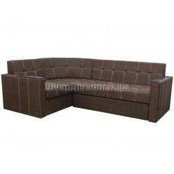 """Угловой диван Версаль 2 коричневый """"7"""" + в подарок Сертификат на 350грн"""