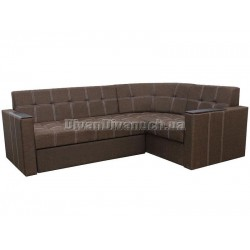 """Угловой диван Версаль 2 коричневый """"Г"""" + в подарок Сертификат на 350грн"""