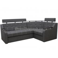"""Угловой диван Версаль 3 тёмно серый """"Г"""" + в подарок Сертификат на 350грн"""