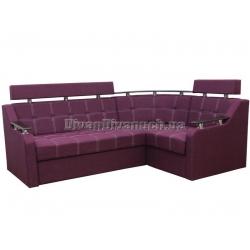 """Угловой диван Версаль 3 фиолетовый """"Г"""" + в подарок Сертификат на 350грн"""