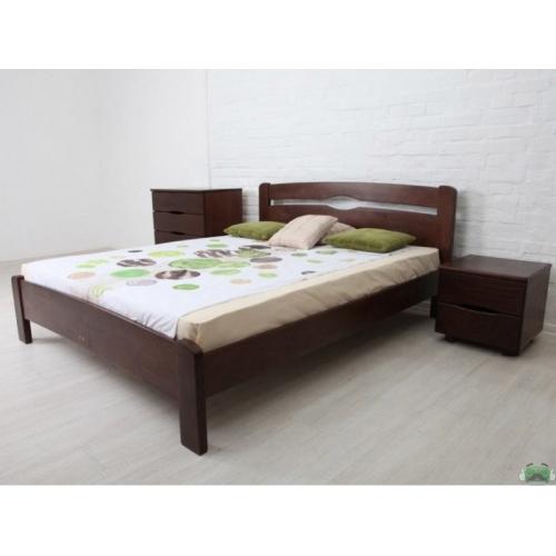 Деревянная двуспальная кровать Нова без изножья 180х200