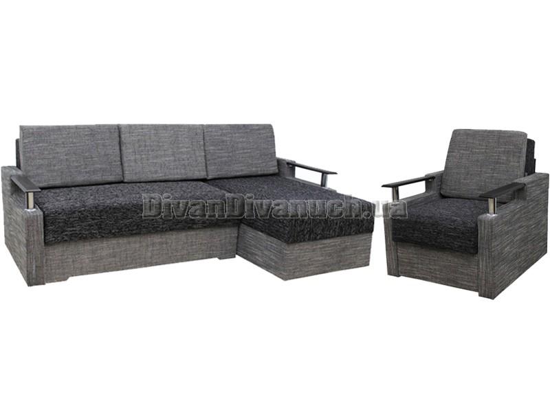 комплект угловой диван зеон кресло кровать фабрика киев купить в