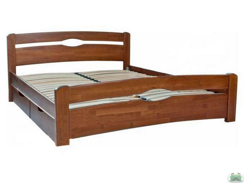 купить деревянную двуспальную кровать нова с 4 мя ящиками 160х200 в